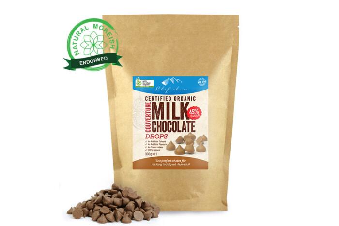 Organic Milk Chocolate Couverture Drops-Natural Moreish