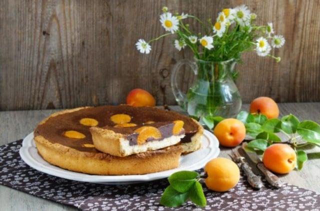 chocolate apricot pie